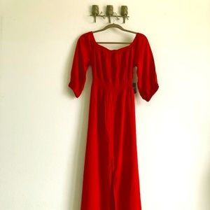 NWT Off-Shoulder Forever 21 Red Maxi Dress